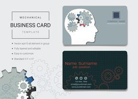Modelo de design de cartão de nome comercial mecânico.