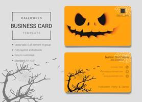 Modelo de design de cartão de nome comercial de Halloween.
