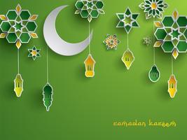 Gráfico de papel da decoração islâmica vetor