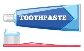 Conjunto de cuidados com os dentes vetor