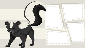 Skunk no modelo de nota vetor