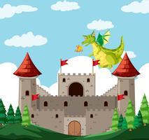 Uma história de dragão de fantasia vetor