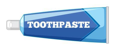 Pasta de dente isolada no fundo branco vetor