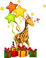 conceito de girafa de festa feliz vetor
