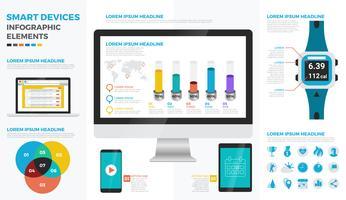 Elementos de infográfico de dispositivos inteligentes