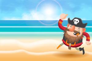 piratas bonitos dos desenhos animados de fundo