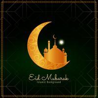 Fundo abstrato Eid Mubarak vetor