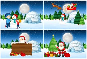 Papai Noel dando presentes definir vetor