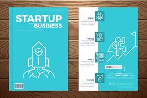 Capa de livro de negócios de inicialização