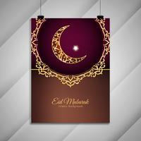 Design de brochura elegante abstrata linda Eid Mubarak