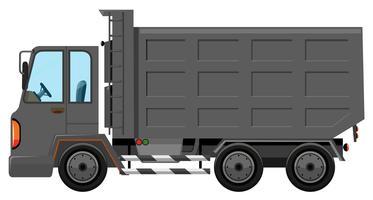 Caminhão de lixo isolado no fundo branco vetor