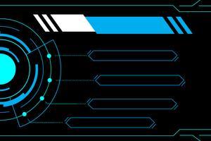 Interface de futuro de tecnologia abstrato azul hud vetor