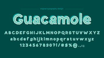 Design de tipografia verde bonito abstrato vetor
