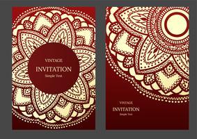 Convite de casamento ou cartão com fundo abstrato. Islã, árabe, indiano, Dubai. vetor