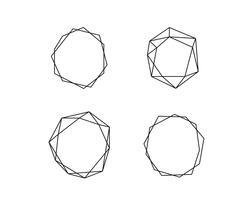 Coleção geométrica de formas redondas com lugar para texto. Conjunto de círculo em vetor. Logotipo símbolo e ícones. Ilustração isolado em um fundo branco