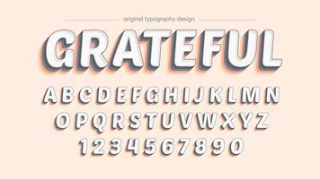 Design de tipografia colorida sombra negrito vetor