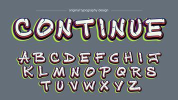 Tipografia de grafite colorido vetor