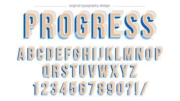 Design de tipografia em negrito bisel azul vetor