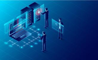 proteção de privacidade e software para desenvolvimento vetor