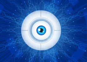 conceito de comunicação de tecnologia de olho abstrato.