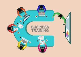 Conceito de treinamento de negócios