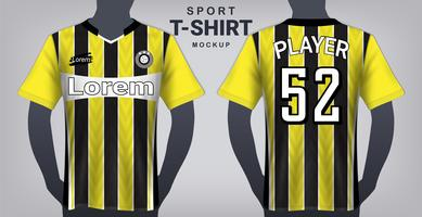 Camisa de futebol e esporte modelo de maquete de t-shirt.