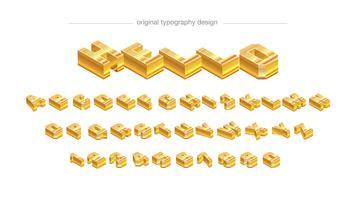 Design de tipografia de barra dourada abstrata vetor