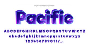 Design de tipografia em quadrinhos colorido vetor