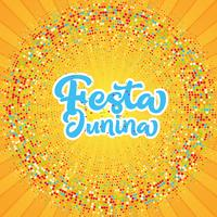 Fundo do starburst de Festa Junina vetor