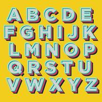 Design tipografia retro colorido vetor