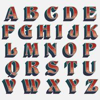 Design de tipografia ocidental retrô vetor