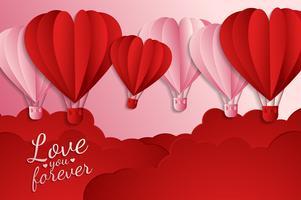 amor cartão de convite dia dos namorados abstrato. Cartão de felicitações, design plano amor feliz. pode ser adicionar texto. ilustração vetorial vetor