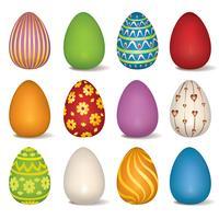 Ovos de Páscoa assinar o conjunto. Símbolo de Páscoa para decoração de cartão de férias.