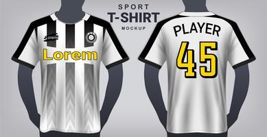 Camisa de futebol e esporte modelo de maquete de t-shirt. vetor