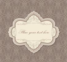 Quadro floral caligráfico Elemento de decoração de página. Borda do cartão