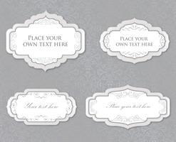 Quadro floral caligráfico Elemento de decoração de página. Conjunto de borda do cartão