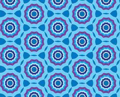 Fundo azul sem costura com guarda-chuva estilizado vetor