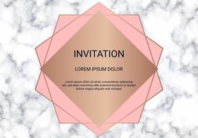 Molde do projeto de cartão, bandeira mínima e tampa com textura de mármore e fundo dourado geométrico do detalhe da folha.
