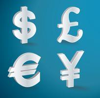 ícones de moeda de vetor