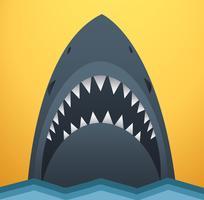 Tubarão, vetorial, ilustração