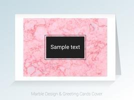 Cartões de mármore e capa de fundo. vetor