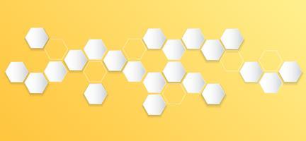 fundo de colmeia de abelha hexágono abstrata vetor