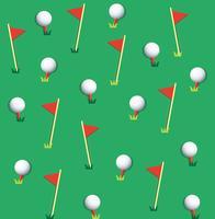 Vetor de fundo de bola de golfe