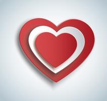 coração no ícone de forma de coração. Dia dos namorados