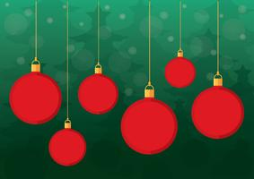 Vetor de fundo de bolas de Natal