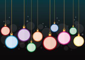 fundo de bola de Natal colorido