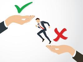 tomar decisão, verdadeiro ou falso vector