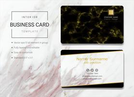 Modelo de cartão de nome de negócio interior. vetor