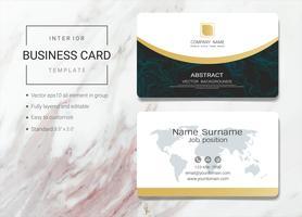 Modelo de cartão de nome de negócio interior vetor