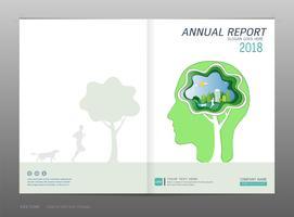 Relatório anual de design de capa, conceito de energia verde. vetor
